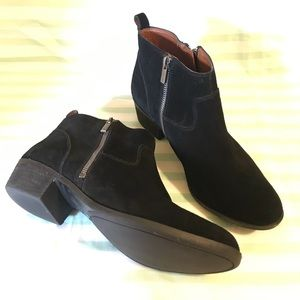 Lucky Brand Betwixt Black Suede Leather Ankle Boot